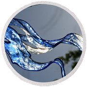 Cold Flame Round Beach Towel
