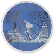 Cold Fury Round Beach Towel
