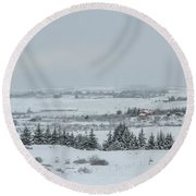 Cold Light Round Beach Towel