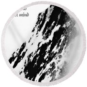 Cold Mountain Reflection W Round Beach Towel