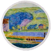 Cold Spring Harbor Round Beach Towel