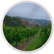 Colibri Vineyards Round Beach Towel