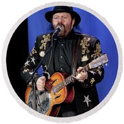 Colin Linden Of Blackie And The Rodeo Kings Round Beach Towel