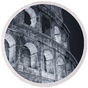 Colosseum Before Dawn Round Beach Towel