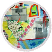 Collage 444 Round Beach Towel by Bruce Stanfield