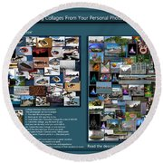 Collage Photography Services Round Beach Towel