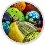 Collapsed Universe Round Beach Towel