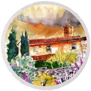 Colle D Val D Elsa In Italy 03 Round Beach Towel
