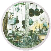 Collecting Dust Round Beach Towel