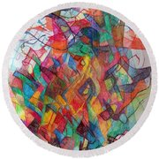 Collecting Thought 3 Round Beach Towel
