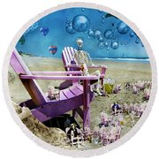 Collective Souls Round Beach Towel