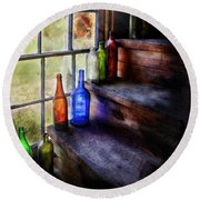 Collector - Bottle - A Collection Of Bottles Round Beach Towel
