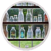 Collector - Bottles - Milk Bottles  Round Beach Towel