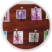 Collector - Stamp Collector - My Stamp Collection Round Beach Towel