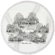 College Of William And Mary Round Beach Towel