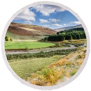 College Valley Forest Round Beach Towel