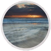 Colliding Tides Round Beach Towel by Mike  Dawson