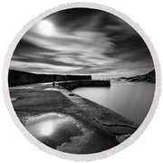 Collieston Breakwater Round Beach Towel