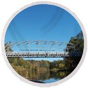 Collinsville Steel Bridge 1 Round Beach Towel