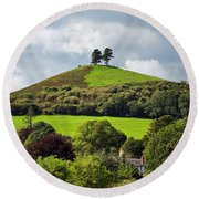 Colmers Hill At Symondsbury Round Beach Towel