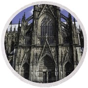 Cologne Cathedral 05 Round Beach Towel