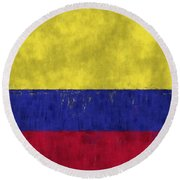 Colombia Flag Round Beach Towel
