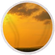 Colombia Sunrise Round Beach Towel