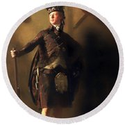 Colonel Macdonnel Of Glengarry Round Beach Towel