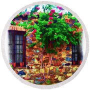 Colonia Del Sacramento Window Round Beach Towel