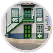 Colonial House Round Beach Towel