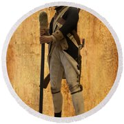 Colonial Soldier Round Beach Towel by Thomas Woolworth