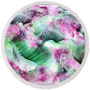 Color Abstract Red-green Round Beach Towel