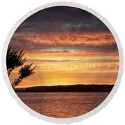 Color At Last Light Round Beach Towel