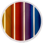 Color Bands Round Beach Towel