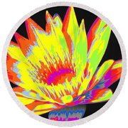 Color Blasted Round Beach Towel