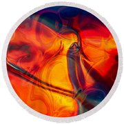 Color Conception Round Beach Towel by Omaste Witkowski
