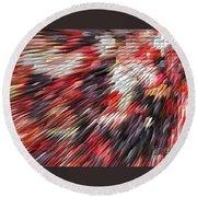 Color Explosion #02 Round Beach Towel