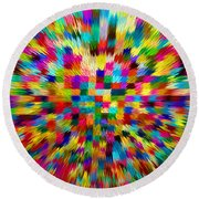 Color Explosion I Round Beach Towel