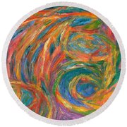 Color Fingers Round Beach Towel