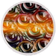 Color Frenzy 2 Round Beach Towel