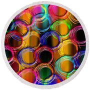 Color Frenzy 5 Round Beach Towel
