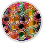 Color Frenzy 6 Round Beach Towel