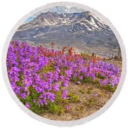 Color From Chaos - Mount St. Helens Round Beach Towel