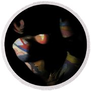 Color Girl Round Beach Towel