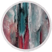 Color Harmony 06 Colored Version 03 Round Beach Towel