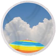 Color In The Sky Round Beach Towel