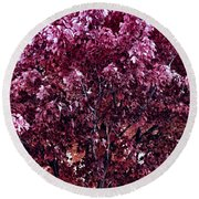 Color In The Tree 01 Round Beach Towel