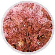 Color In The Tree 03 Round Beach Towel