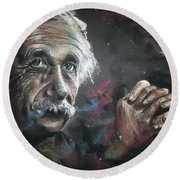 Color My Universe Round Beach Towel