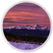 Color Of Dawn Round Beach Towel